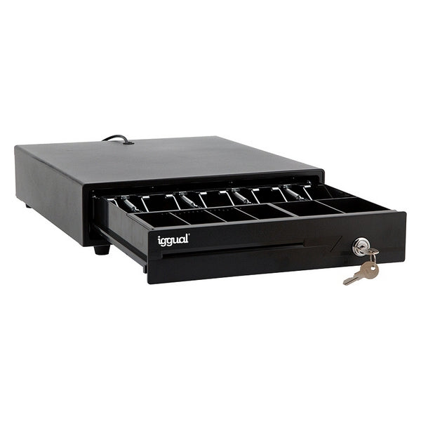 Cash Register Drawer iggual IRON-10 Black