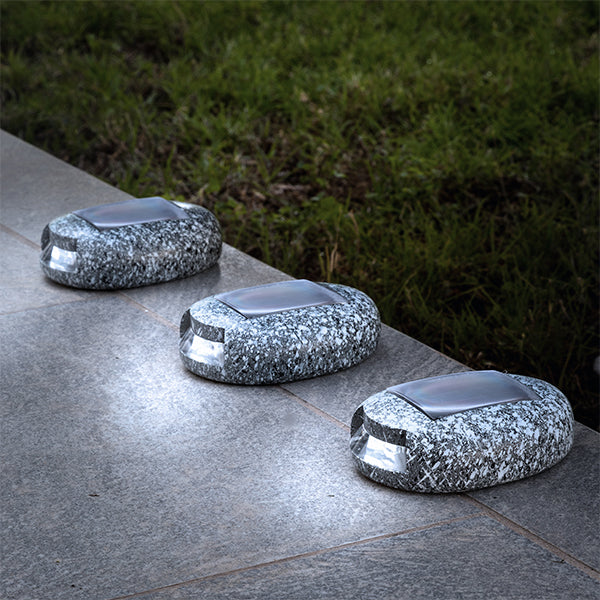 LED Solar Stone Garden (Pack of 3)