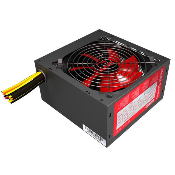Power supply Tacens MPII650 ATX 650W Active PCF Black/Red