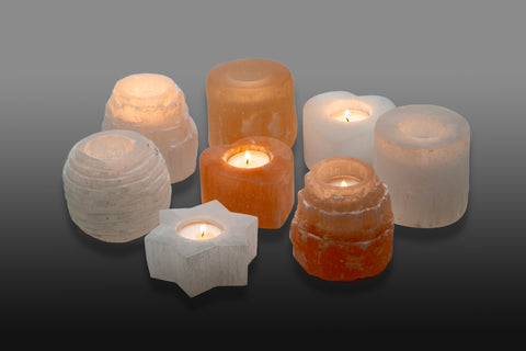 Selenite Candle Holder 透石水晶蠟燭台 (8 types)