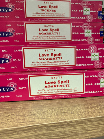 Satya Love Spell Incense 15g Pack