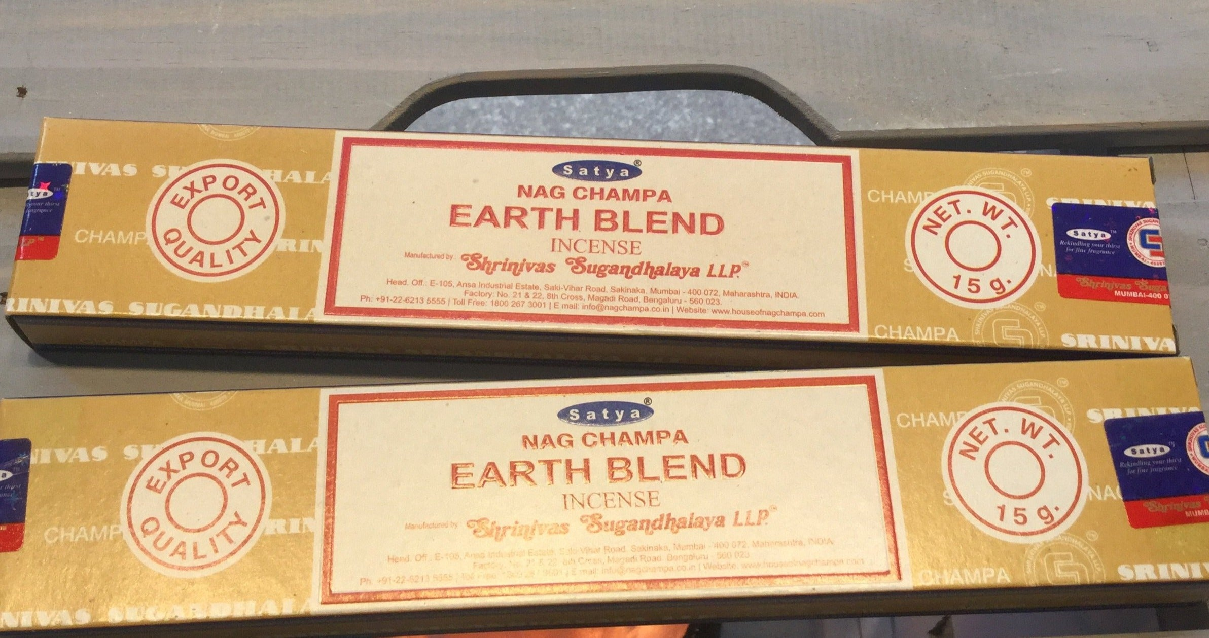 Satya Earth Blend Incense 15g Pack