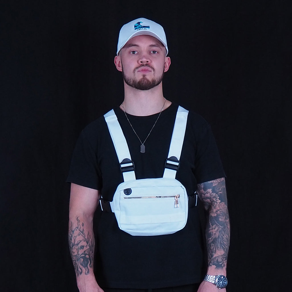 White men's chest rig bag
