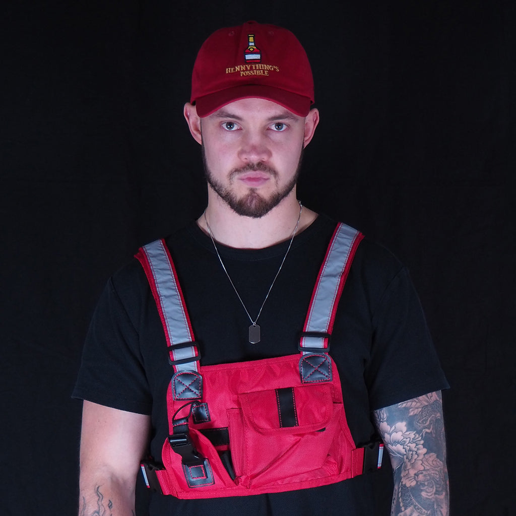 Henny Thing Is Possible Cap & Illuminated Red Chest Rig Bag