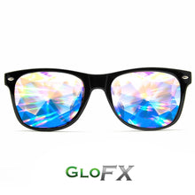 Load image into Gallery viewer, Kaleidoscope & Diffraction Glasses in BlackWayfarer Ultimate Frames, by GloFX.
