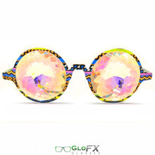 Load image into Gallery viewer, Tribal Style Frames and Rainbow Tinted lenses - Kaleidoscope Glasses, Limited edition, by GloFX.