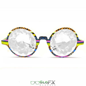 Tribal Style Frames with Clear Lenses - Kaleidoscope Glasses, Limited edition by GloFX.