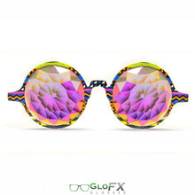 Load image into Gallery viewer, Tribal style frames with Rainbow Fractal lenses - Kaleidoscope Glasses (Limited Edition), by GloFX.