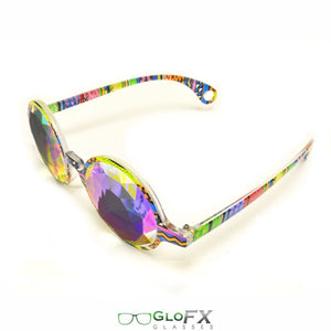 Tribal style frames with Rainbow Fractal lenses - Kaleidoscope Glasses (Limited Edition), by GloFX.