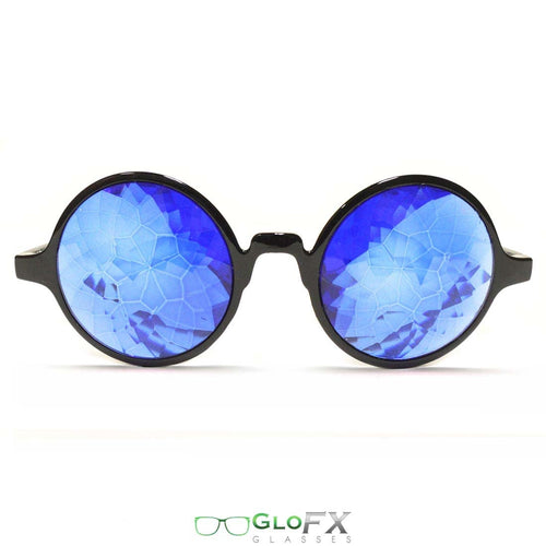 Black Framed Kaleidoscope Glasses with Sapphire Tinted Lenses, by GloFX .
