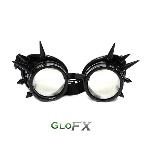 Black Spike Diffraction Goggles with Clear Lenses, by GloFX.
