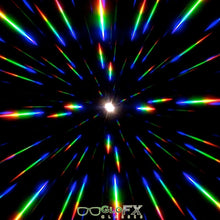 Load image into Gallery viewer, Brass Spike Diffraction Goggles with Clear Lenses, by GloFX.