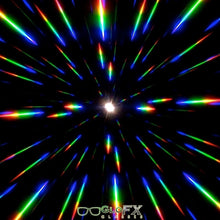 Load image into Gallery viewer, White Diffraction Goggles with Clear Lenses, by GloFX.