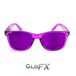 Colour Therapy Glasses with Violet frames and lenses, by GloFX