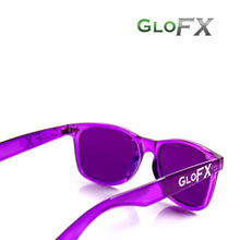 Load image into Gallery viewer, Colour Therapy Glasses with Violet frames and lenses, by GloFX