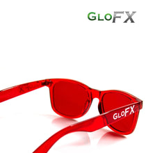 Load image into Gallery viewer, Colour Therapy Glasses with Red frames and lenses, by GloFX