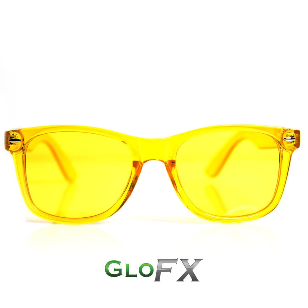 Colour Therapy Glasses with Yellow frames and lenses, by GloFX