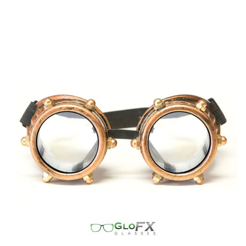 Copper Bolt Diffraction Goggles with Clear Lenses, by GloFX.