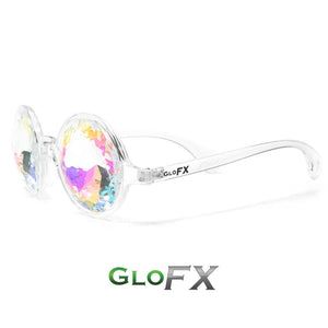 Transparent Clear Frames with Rainbow Tinted Lenses - Kaleidoscope Glasses, by GloFX.