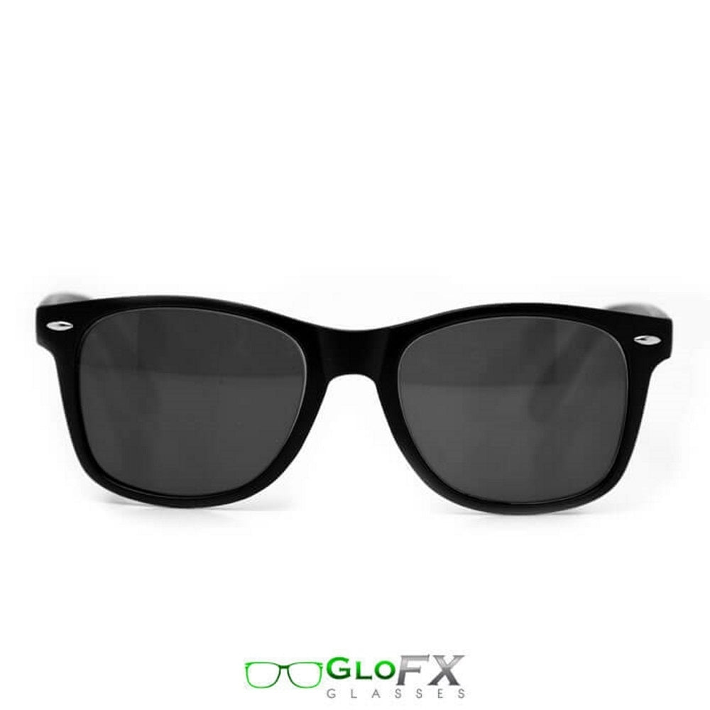 Matte Black Frames with Emerald Tinted Lenses - Ultimate Diffraction Glasses, by GloFX.