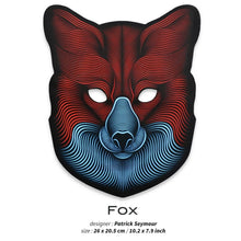 Load image into Gallery viewer, Outline® Fox Light up LED Mask
