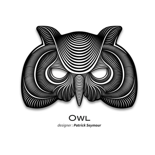 Outline® Owl Light up LED Mask