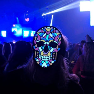 Outline® Sugar Skull Light up LED Mask