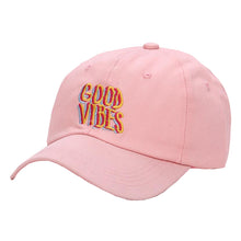 Load image into Gallery viewer, Good Vibes Baseball Cap - White