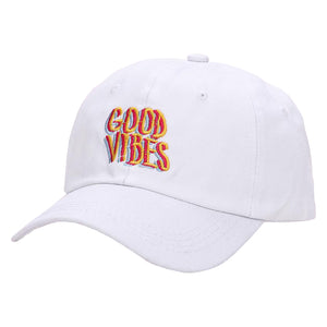Good Vibes Baseball Cap - White