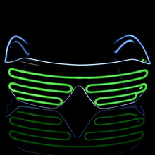 Load image into Gallery viewer, Green Blue LED Rave Glasses