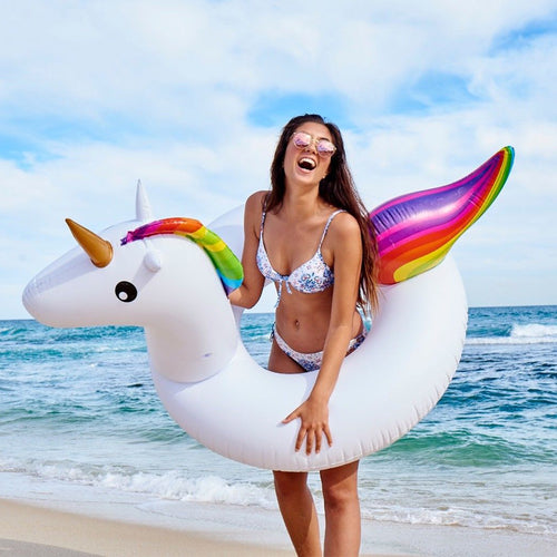 Giant Inflatable Unicorn Swimming Ring 2019