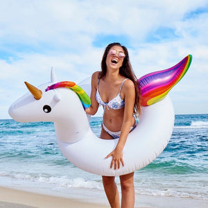Giant Inflatable Unicorn Swimming Ring
