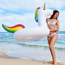 Load image into Gallery viewer, Giant Inflatable Unicorn Swimming Ring