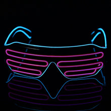 Load image into Gallery viewer, Purple & Blue LED Rave Glasses
