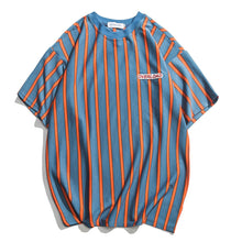 Load image into Gallery viewer, Overload Men's T Shirt - Blue & Orange