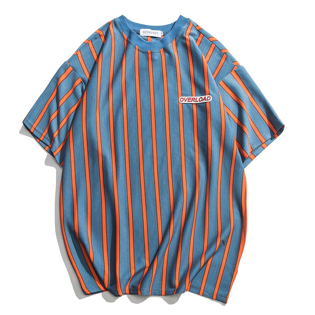 Overload Men's T Shirt - Blue & Orange