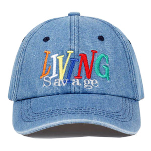 Living Savage Cap - Light Blue Denim