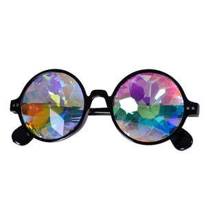 Black Round Frame Kaleidoscope Glasses 🔮 (X Range)