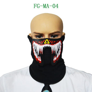 Luminous Sound Reactive Face Mask - 9 to choose from