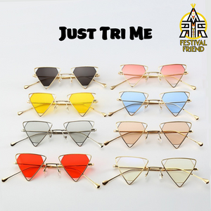 Just Tri Me 👀 2nd Edition - Sunglasses - Gold & Yellow