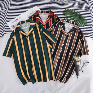 Dark and Edgy (Green & Gold) - Men's Short Sleeve Rave Shirts