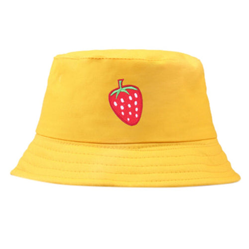 Strawberry Bucket Hat - Yellow