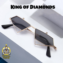 Load image into Gallery viewer, King of Diamonds 👑 – Flip Up Sunglasses – Gold & Red