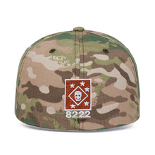 Load image into Gallery viewer, 8222 Skull Design Elasticated Army Cap - Black