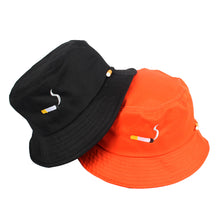 Load image into Gallery viewer, The 'No Chill' Smoker's ♨️ Bucket Hat ft. Convenient Cigarette Holder on Side of Hat - Black