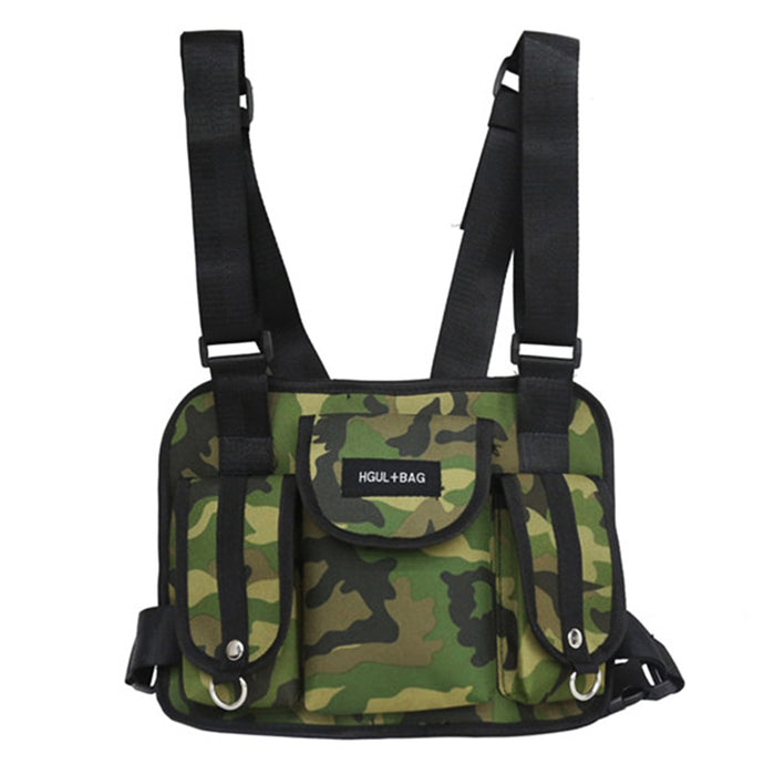Men's Chest Rig Bag - Special Ops - Green Camouflage