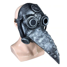 Load image into Gallery viewer, Medieval Steampunk Plague Doctor Mask with Birdlike Beak! - Mechanical - Bronze