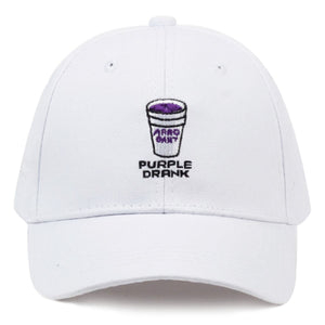 Purple Drank Baseball Cap - White