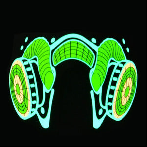 Luminous Sound Reactive Face Mask - Yellow Venom