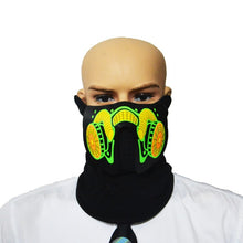 Load image into Gallery viewer, Luminous Sound Reactive Face Mask - Blue Venom